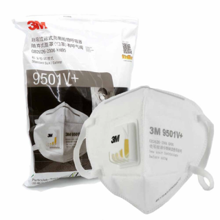 25 Pack 3M N95 Particulate Respirator 9502V+ with Exhalation Valve  - Equivalent as US NIOSH N95 Performance