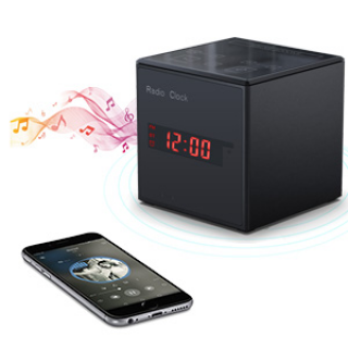 DITRA - HD WIFI Streaming Nanny Cam Alarm Clock FM Radio & Bluetooth Speaker with Extreme IR Night Vision