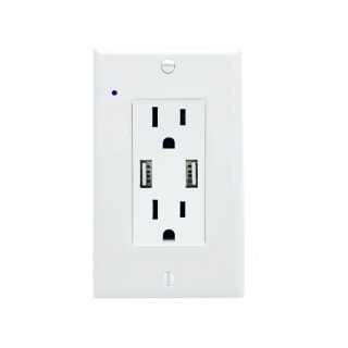CRATUS.A - 4K UltraHD WIFI  Streaming Nanny Cam Hardwired Functional USB-A Receptacle Outlet Plug