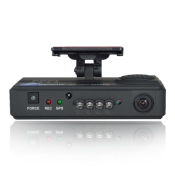 HD Professional Series Dual Channel Car Fleet Vehicle Truck Dash Camera with IR Night Vision and GPS
