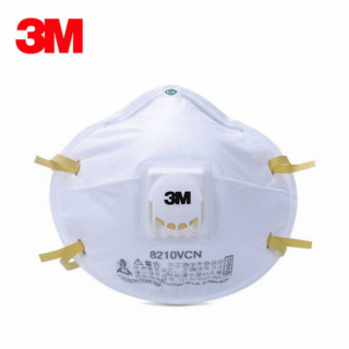 10 Pack 3M 8210VCN Head-mounted Mask with Respiratory Valve for Industrial Dust-proof Grinding N95 Class Anti-fog and Haze Riding