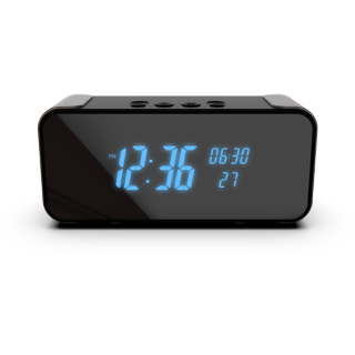 Omini Pro - 4K UltraHD WIFI Streaming Nanny Cam Bluetooth Speaker Alarm Clock with IR Night Vision
