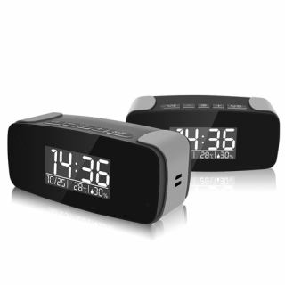 OMINI - 1080p HD WIFI Streaming Nanny Cam Alarm Clock with IR Night Vision